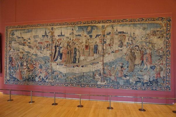 Tapiséria Obliehanie Dijonu v Múzeu výtvarných umení v Dijone