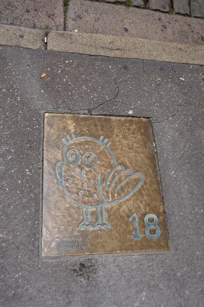Sovičky v Dijone označujú zaujímavé miesta v meste