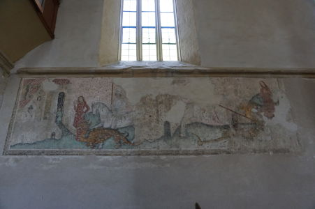 Pôvodné fresky v kostole