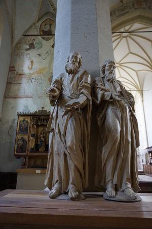 Sochy evanjelistov v Kostole na kopci