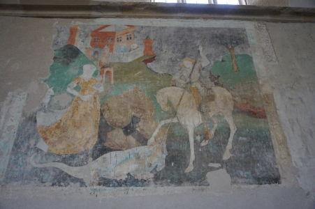 Freska znázorňujúca sv. Juraja