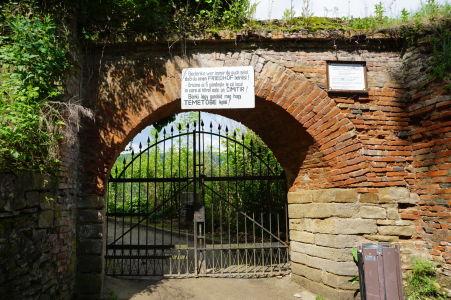 Vstupná brána na cintorín v citadele Sighişoary