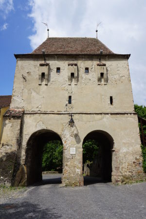 Turnul Croitorilor - Krajčírska veža - Jedna z veží opevnenia, ktorá slúžila aj ako vstupná brána