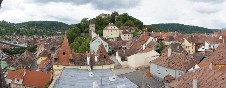 Výhľad z veže na citadelu a Kostol na kopci - najvyššie miesto citadely