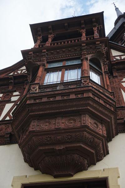 Hlavný balkón zámku Peleš