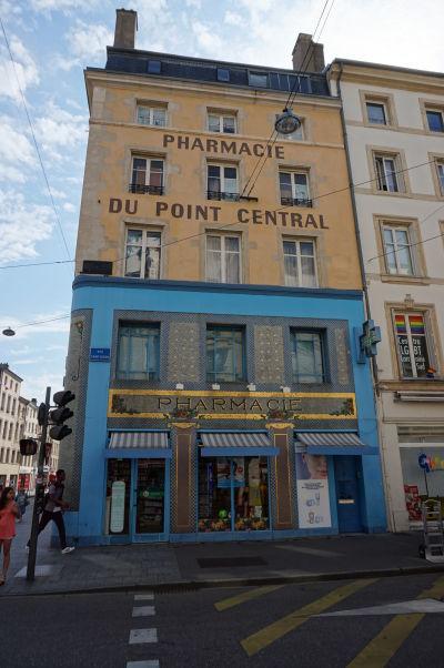 Zdobená lekáreň na ulici Rue Saint-Dizier v Nancy