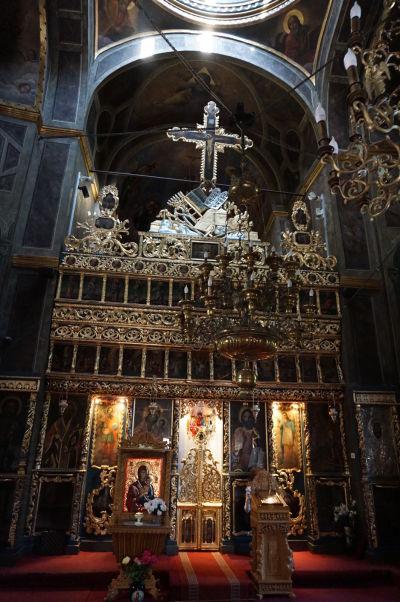 Ikonostas v kostole Starého knižacieho dvora v Bukurešti