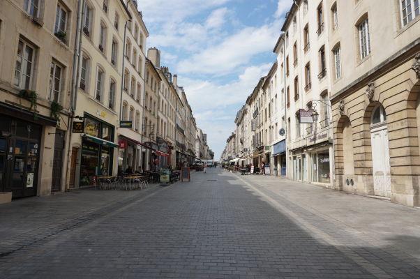Pešia ulica Rue Stanislas v Nancy