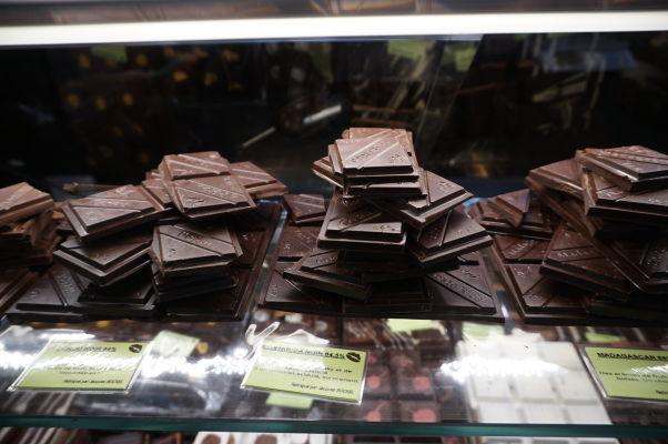 Mestská tržnica v Nancy - nechýba ani výborná čokoláda