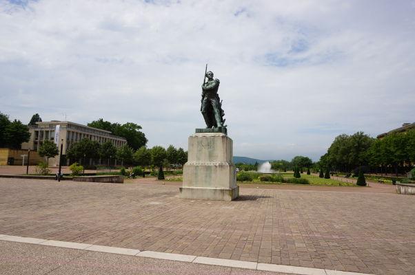 Námestie republiky a esplanáda v Metz