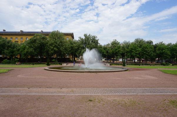 Esplanáda pri Námestí republiky v Metz