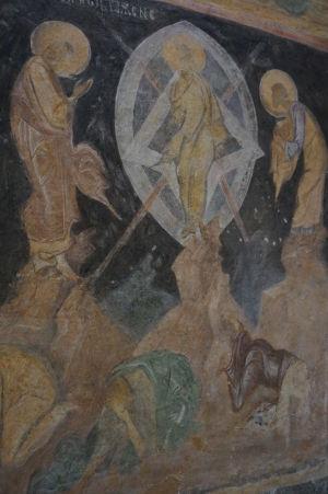 Freska v Chráme sv. Bohorodičky v Ivanove - Nanebovstúpenie