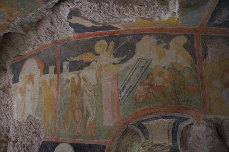 Freska v Chráme sv. Bohorodičky v Ivanove - Zmŕtvychvstanie