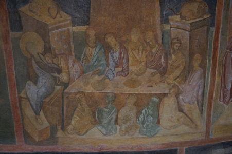 Freska v Chráme sv. Bohorodičky v Ivanove - Posledná večera