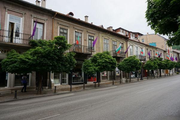Ulica v centre vo Velikom Tarnove