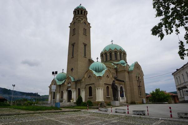 Katedrálny chrám narodenia Panny Márie vo Velikom Tarnove - najväčší chrám v meste, pochádzajúci z 20. storočia