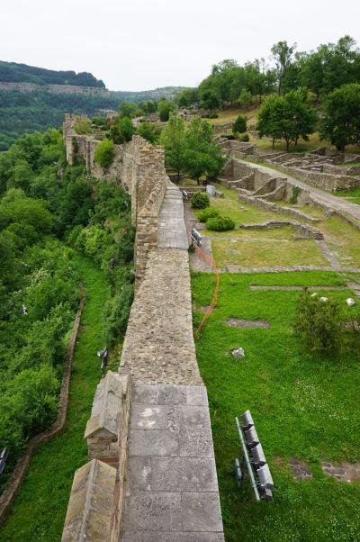 Ruiny pevnosti Carevec vo Velikom Tarnove