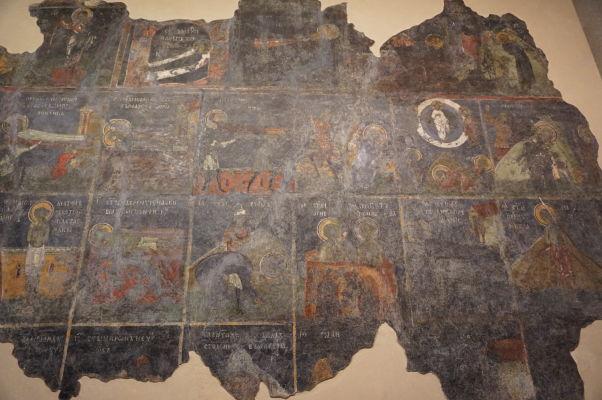 Zachované fragmenty fresiek v Kostole sv. 40 mučenníkov vo Velikom Tarnove