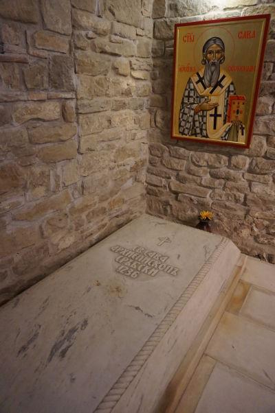 Jedna z hrobiek v Kostole sv. 40 mučenníkov vo Velikom Tarnove