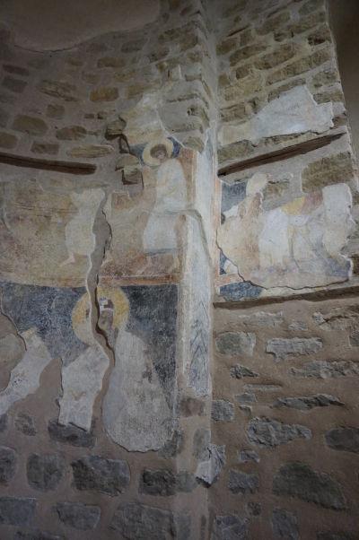 Zvyšky zachovaných fresiek v Kostole sv. Demetera vo Velikom Tarnove