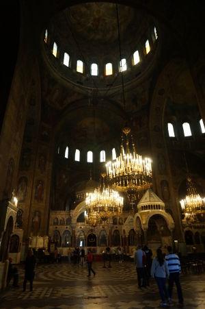 Impozantné interiéry Katedrály Alexandra Nevského
