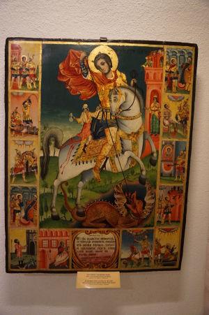 Ikona sv. Juraja - Múzeum v krypte Katedrály Alexandra Nevského