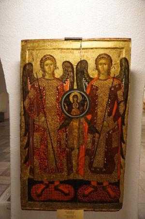 Ikona s archanjelmi - Múzeum v krypte Katedrály Alexandra Nevského