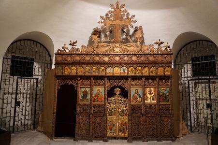 Ikonostas - Múzeum v krypte Katedrály Alexandra Nevského