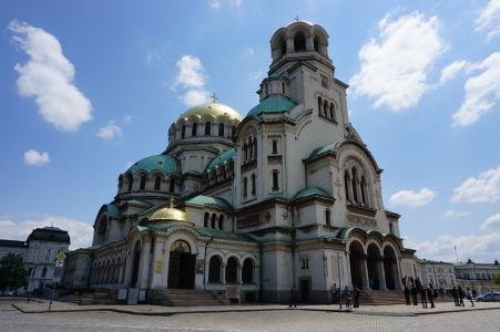 Katedrála Alexandra Nevského v Sofii so zlatou kupolou