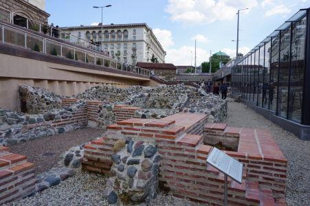 Ruiny rímskeho mesta v centre Sofie