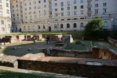Pozostatky rímskej ulice priamo v centre Sofie