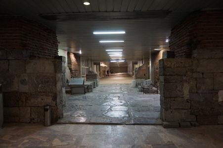 Ruiny rímskeho mesta v stanici metra v Sofii