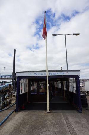 Trajektový terminál na ostrove Man