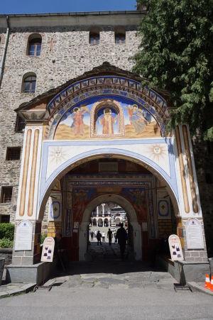 Zdobený južný vchod do kláštora Rila
