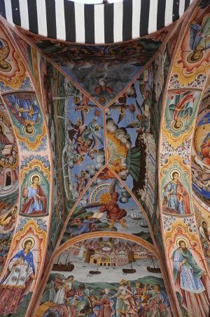 Fresky na kostole v Rile - Výjavy z evanjelia podľa Jána - Apokalypsa