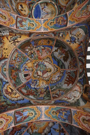 Fresky na kostole v Rile - Výjavy zo života svätých