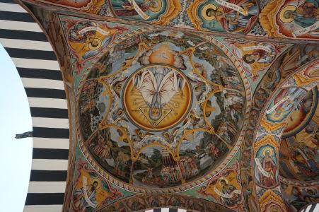 Fresky na kostole v Rile - Antropomorfné vyobrazenie Boha