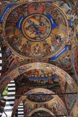 Fresky na kostole v Rile - Ježiš