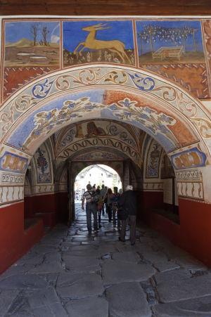 Zdobený severný vchod do kláštora Rila - Opäť prírodné motívy