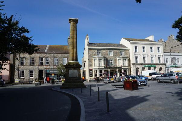Námestie Market Square - centrum Castletownu na ostrove Man