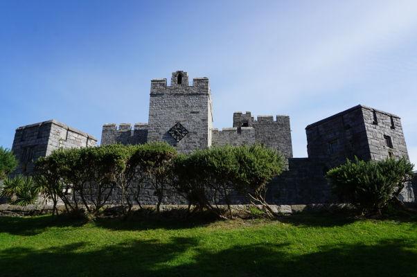 Hrad Rushen v meste Castletown na ostrove Man