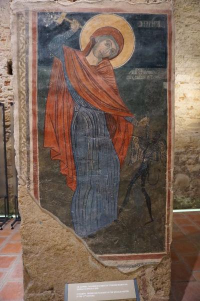 Freska sv. Maríny zo 17. storočia - Kostol Jána Krstiteľa v Nesebare