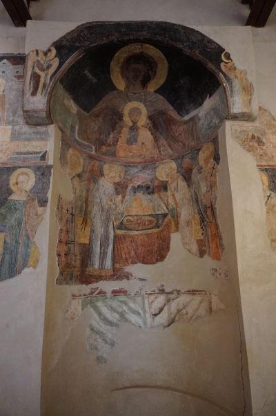 Fresky v Kostole sv. Spasiteľa v Nesebare - veľká freska Panny Márie v apside
