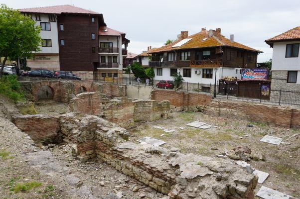 Pozostatky byzantínskych kúpeľov v Nesebare