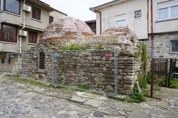 Zvyšok antických termálnych kúpeľov v Nesebare