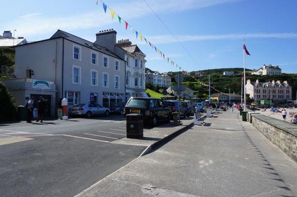 Promenáda v mestečku Port Erin na ostrove Man