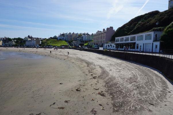 Pláž v mestečku Port Erin na ostrove Man