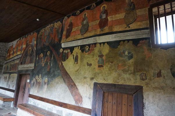 Fresky na vonkajšej stene Kostola sv. Štefana v Nesebare