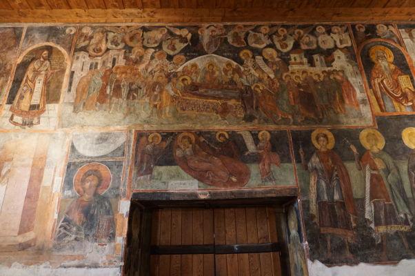 Freska zobrazujúca uspanie Panny Márie v Kostole sv. Štefana v Nesebare