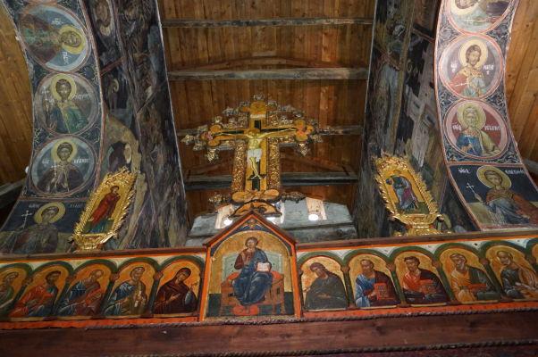 Ikonostas zo 16. storočia a strop v Kostole sv. Štefana v Nesebare